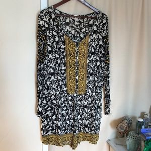 Free People Black and White Romper